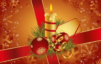 Christmas greeting card - vector #169563 gratis