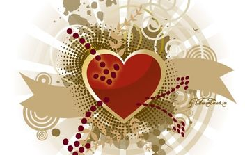 Heart, splatter and banners free vector - Free vector #169613