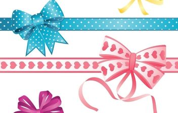 Set of bows - vector gratuit #169653