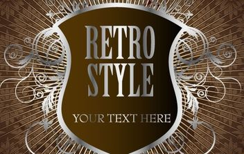 Retro silver shield - vector gratuit #169683