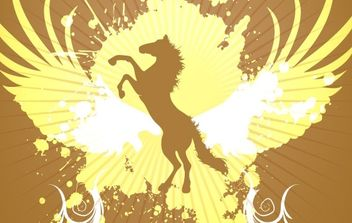 Golden Horse background vector - vector gratuit #169833
