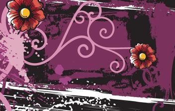 Abstract floral grunge backgrounds - Free vector #169863