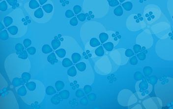 Floral blue vector background - vector gratuit #170033
