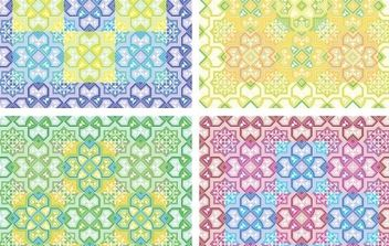 Colored Pattern Background Vector - Free vector #170043