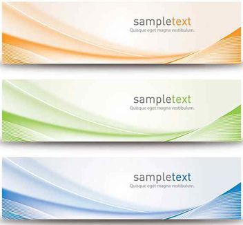 Abstract Waves Colorful Banners - vector gratuit #170263