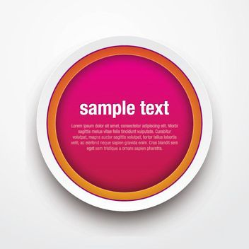 Rounded Button Sticker Template - vector gratuit #170283