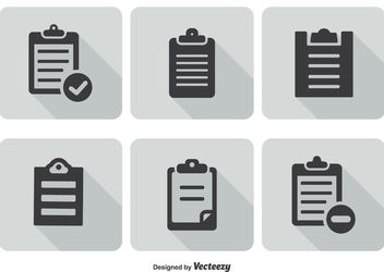 Minimal Clipboard Icon Set - vector #170313 gratis