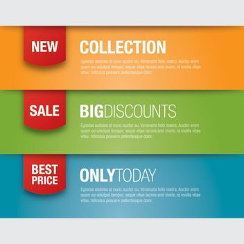 Multicolor Promotional Banner Templates - vector gratuit #170333
