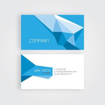 Abstract Polygonal Origami Business Card - vector gratuit #170373