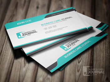 Blue Classic Professional Business Card - vector gratuit #170443