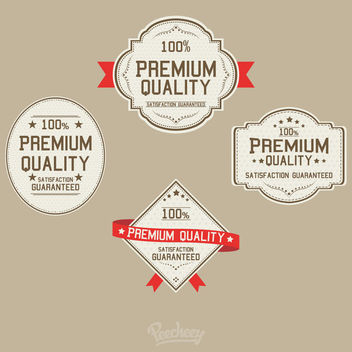Vintage Premium Quality Sticker Set - vector gratuit #170453