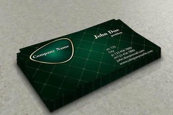 Diamond Grid Stylish Business Card - vector #170463 gratis