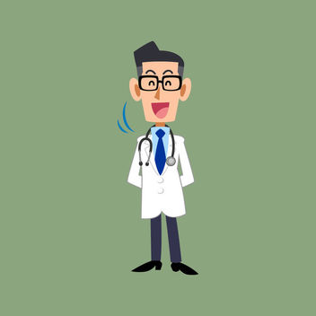 Smiley Doctor Profession Cartoon Character - Free vector #170513