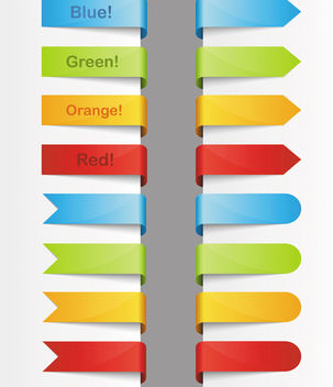 Folded Colorful Ribbon & Corner Pack - Free vector #170533