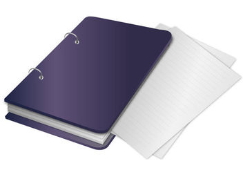 Notebook Binder with Papers Outside - Free vector #170563
