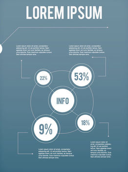White Circular Infographic Layout - vector gratuit #170603