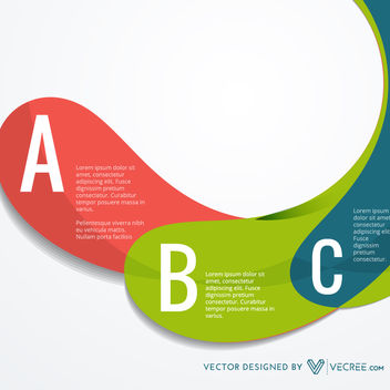 Colorful Curvy Strip Infographic - Kostenloses vector #170673
