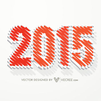 Scribble Effect 2015 Typography - Free vector #170713