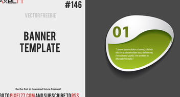 Creative Elliptical Sticker Banner Template - Kostenloses vector #170813