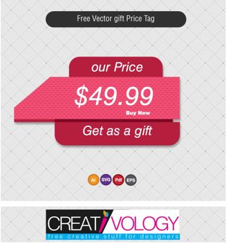 Abstract Gift Price Tag Template - Kostenloses vector #170903