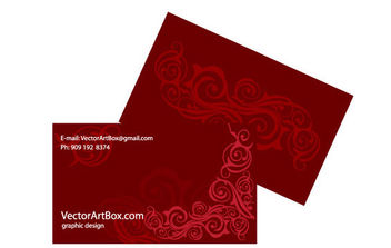 Business Card Template - Kostenloses vector #171043