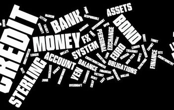 Financial Word Cloud - vector gratuit #171063