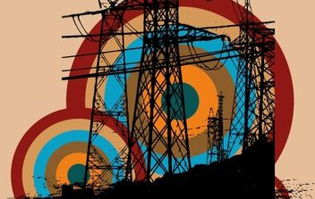 Retro electric tower free vector - vector #171233 gratis
