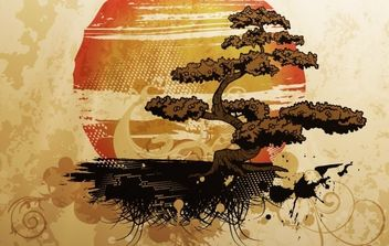 Bonsai Illustration - Free vector #171273