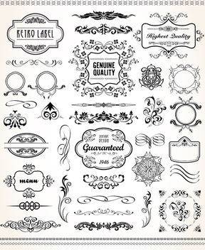 Vintage graphic set - vector gratuit #171413