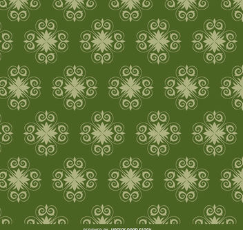Star swirls green pattern - Free vector #171443
