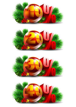 Promotional Christmas Ball Decoration Pack - vector gratuit #171583