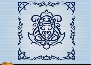 Celtic swirls ornamental frame - Free vector #171653
