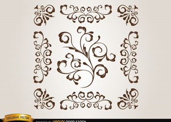 Ornamental swirls - Free vector #171683