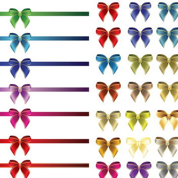 Glossy Ribbon and Bows - vector gratuit #171703