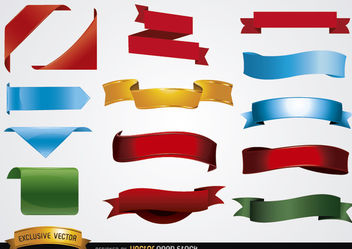 Colored banner shapes - Free vector #171713