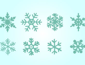 Blue Hand Drawn Snowflake Pack - vector gratuit #171793