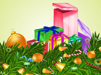 3D Xmas Ornaments & Presents - Free vector #171823