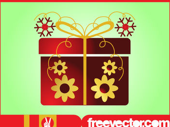 Decorative Christmas Present Box - vector gratuit #171833