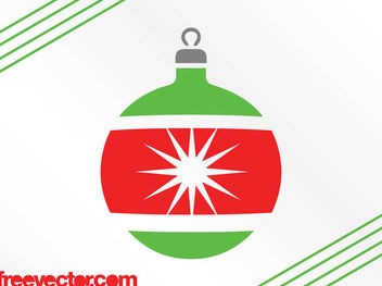 Decorative Christmas Bright Bauble - бесплатный vector #171843