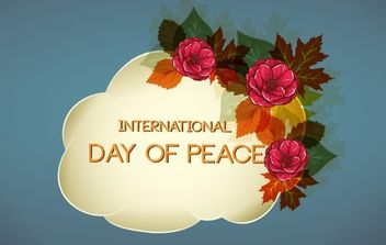 Flourish Design for Day of Peace - vector gratuit #171983