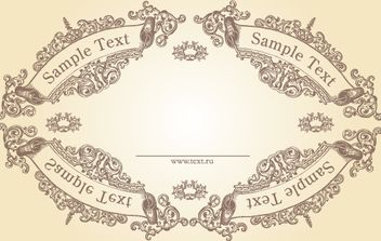 Vintage Ornamental Textual Frame - Free vector #172083