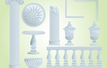 Marcos Vintage Decorative Landscape Pack - vector #172093 gratis