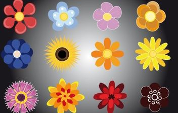 Flower Pack Vector - Free vector #172113