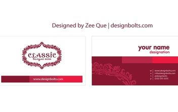 Customizable Beautiful Business Card Template - бесплатный vector #172153