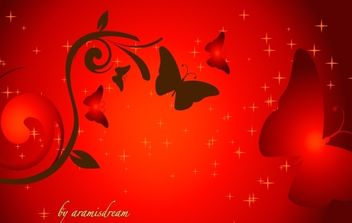 Red Sunset Vector Artwork - Free vector #172163