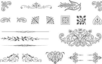 85 Free Vintage Vector ornaments - бесплатный vector #172183