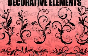 Floral Design Elements - vector gratuit #172193