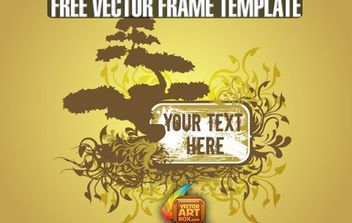 Free Vector Floral Tree Frame Template - Free vector #172203