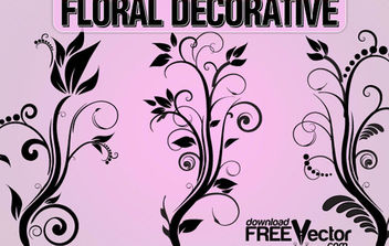 Free Floral Decorative Ornaments - Kostenloses vector #172233