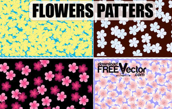 Free Art Vector Flowers Patterns - Free vector #172263